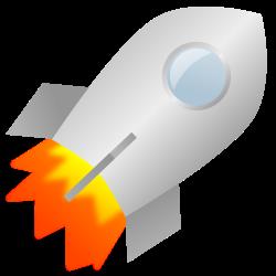 Рисунок летящей ракеты