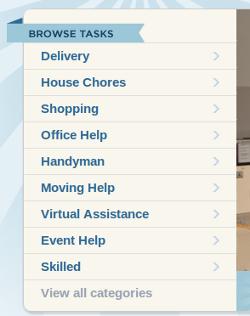 Скриншот с сайта www.taskrabbit.com