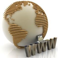 земной шар и буквы www  рядом