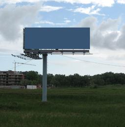 пустой стенд для размещения наружной рекламы
