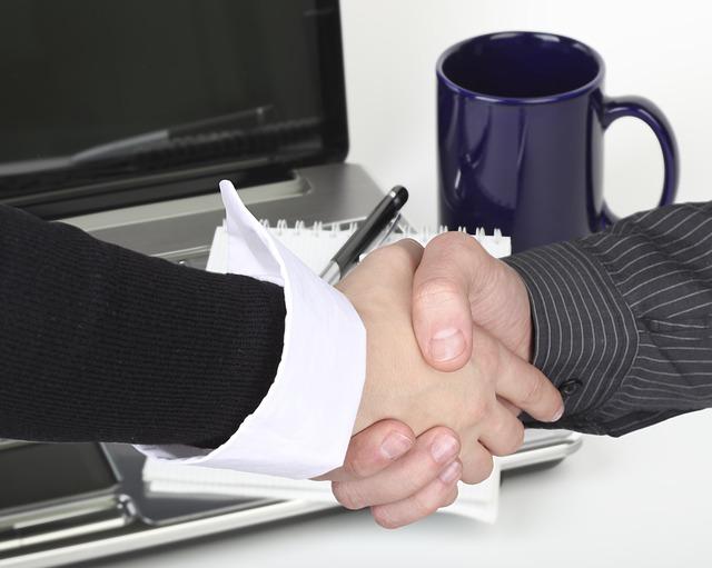 рукопожатие, бизнес-коллаж